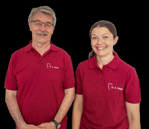 Zahnarzt Dr. Anton Scherer und Zahnärztin Dr. Birgit Geiger